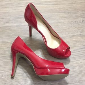 [Nine West] NEW Red Peep Toe Pumps
